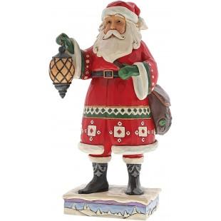 Jim Shore Heartwood Creek Santa with Lanter Figurine Babbo Natale