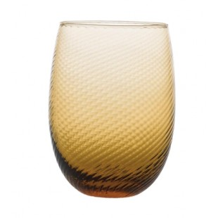 Levante Torsè Set 6 bicchieri in vetro h9.5 cm