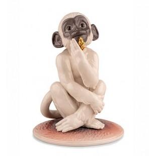 Lladrò Piccola Scimmia 01009498 statua in porcellana
