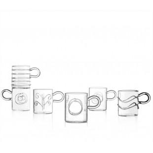 Ichendorf Deco Set 6 tazzine da caffè in vetro