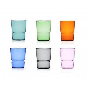 Ichendorf TAP set 6 bicchieri in vetro MULTICOLOR