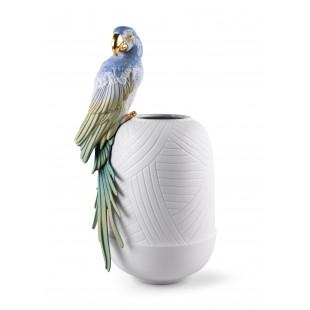 Lladrò Vaso Ara pappagallo porcellana
