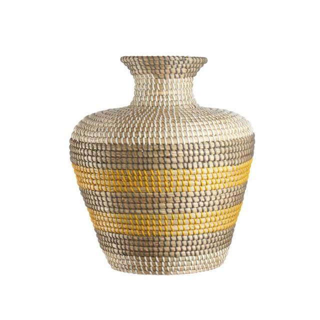 L'Oca Nera 1R102 Vaso in Seagrass Ø33x40h