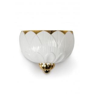 Lladrò Applique Ivy & Seed. Bianco e oro (CE/UK) lampada porcellana